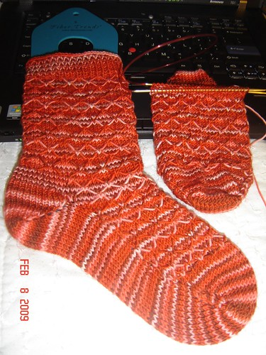 "Leyburn Socks in Socks that Rock ""Dragondance"""