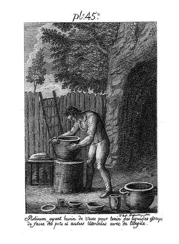 003- Robinson fabricanto recipientes con arcilla