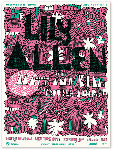 Lily Allen Myspace Secret Show poster