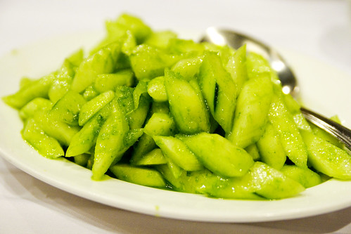 cold cucumber with scallion sauce
