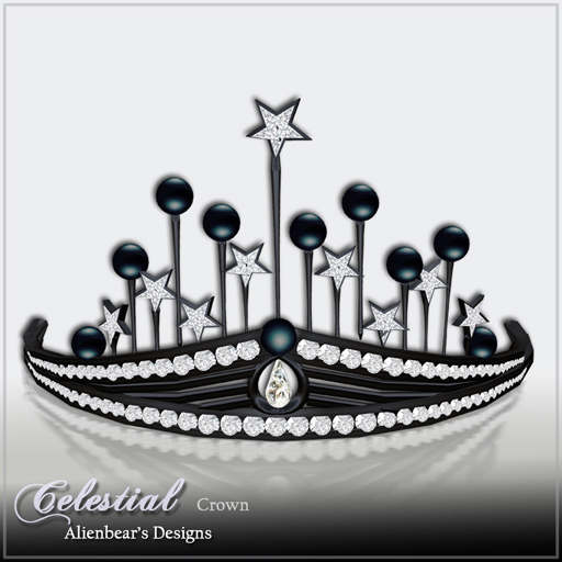 Celestial dark Pearl & Diamond crown