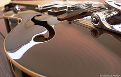 Gretsch... beautiful  guitar ... (Rebeca Mello) Tags: wood stilllife brown detail guitar sony guitarra madeira gretsch colorphotoaward alpha200 sonyalpha200 a200k sonyalphadslra200 rebecamello rebecamcmello pinnaclephotography poeexcellence