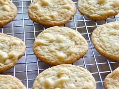 White Chocolate Lime Cookies - Cooling