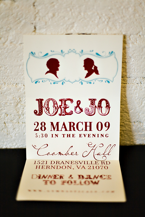 Jo/Joe wedding invitation- Ryan's brother