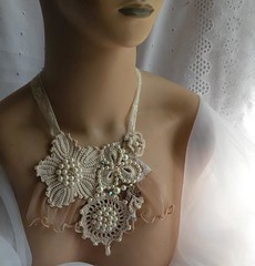 Lace to remember (DAINTYCROCHETBYALY) Tags: fashion women lace victorian vintagefabric romantic fiberart beaded crochetednecklace fdlteam youngvictorianmovie