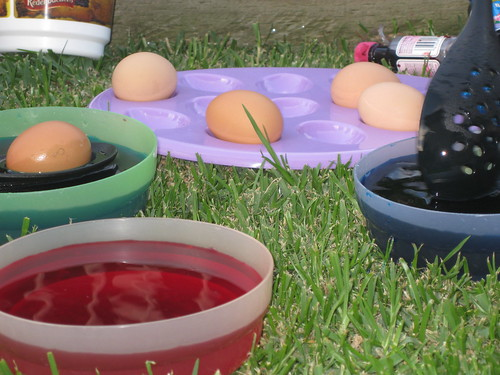 Egg colouring