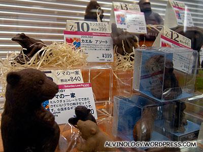 Bear-shaped chocolate