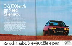 1986_Renault 11 turbo (Christophe Ramonet) Tags: advertising pub ad renault advertisement advert werbung publicité reklame