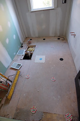 tile test run (mennyj) Tags: home drywall tile bathroom design renovation greenboard