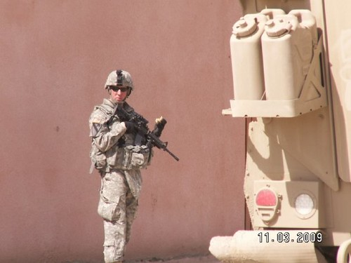 Mike Markland in Iraq