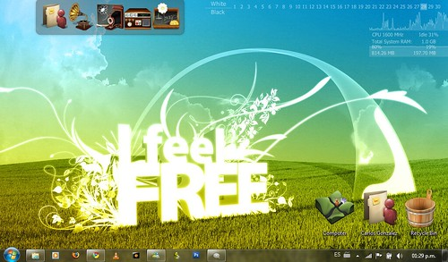 Acer One con Windows 7 wallpaper