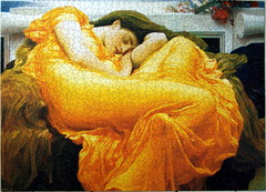 Leighton - Flaming June (C r u s a d e r) Tags: flamingjune jigsawpuzzle fredericlordleighton pentaxk10d