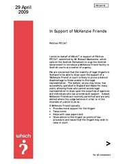 Which letter of support for McKenzie Friend Petition page 1