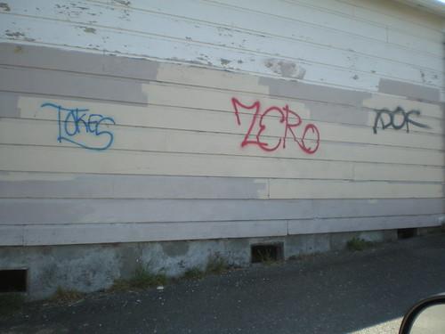 Graffiti on Carson St, Eureka, 04