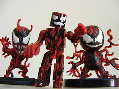 cutie carnages (nuo2x2) Tags: cute toy toys spiderman figure carnage gashapon marvel heroclix minimates nuo2x2 carnages