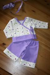 amy butler kimono pajamas (Ponteuf {lighteningmyload}) Tags: baby linen kimono pajamas amybutler kokka littlestiches