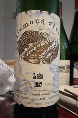 "1987 Diamond Creek ""Lake"" Cabernet Sauvignon"