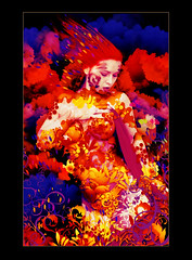 Color (Marco Escobedo  Art / Design) Tags: light woman flower colour art nature face digital photoshop dark design photo nice paint extreme gothic exotic fantasy dreams change fixed makeover retouch effect dreamcatcher transformacion gotico maquillaje bauty cirugia justimagine gotick manipulacin theunforgettablepictures atqueartificia
