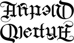 """Arnold"" & ""Overturf"" Ambigram"