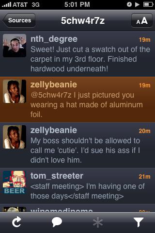 Tin foil twitter