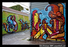 REYES, STEEL (unaesthetic) Tags: california wall graffiti mural san francisco pieces district steel w letters s mission walls msk piece misspelled legal permission reyes burners mispelled