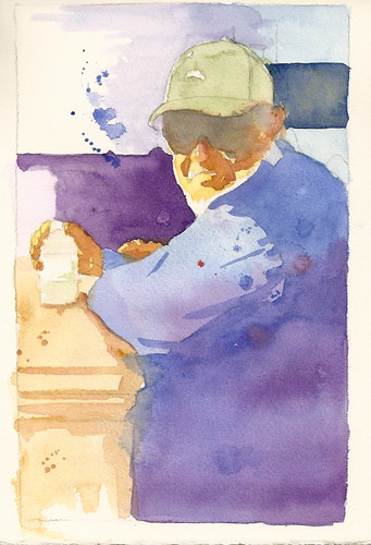 Steve Penberthy - Watercolor Portrait :: At the Fountains