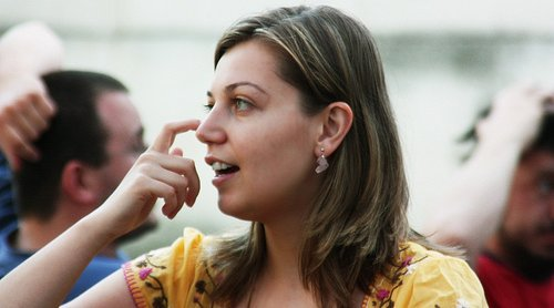 Woman Scratching Her Nose