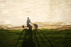 Me (vonSchnauzer) Tags: sunset shadow bicycle wall speed self movement wheels gotland hiq canon5dmii