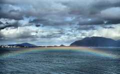 Rainbow at my feet (larigan.) Tags: sea clouds rainbow fjord doublerainbow lesund aalesund heavenandearth abigfave larigan valderyfjord phamilton gamlemstveiten
