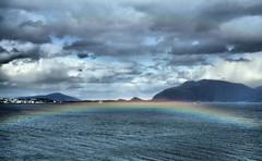 Rainbow at my feet (larigan.) Tags: sea clouds rainbow fjord doublerainbow ålesund aalesund heavenandearth abigfave larigan valderøyfjord phamilton gamlemstveiten