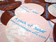 a pinch of sugar labels