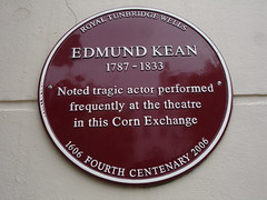 Photo of Edmund Kean claret plaque