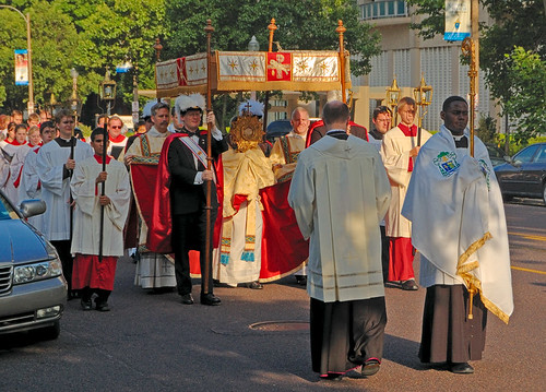 Cathedral Basilica of Saint Louis, in Saint Louis, Missouri, USA - Corpus Christi procession 2