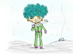 2  (alferas9kuw) Tags: winter snow cold girl sketch paint drawing romance coloring sai tool           alferaskuw
