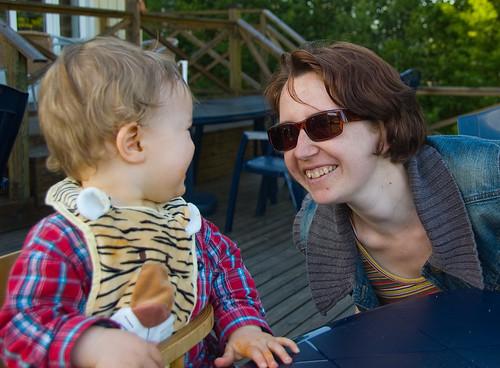 Vi äter middag på Kalvsjögården i Kalv