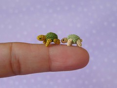 Turtles! (MUFFA Miniatures) Tags: anime cute miniature funny doll turtle crochet tortoise amigurumi dollhouse muffa cdhm threadanimals threadminiature