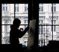 creating art (Crazy Ivory) Tags: lighting bridge houses windows light boy portrait house man black blur building berlin male men window public silhouette architecture backlight canon buildings germany deutschland grey lights big artist loneliness dof mj blurred tape michaeljackson 1855mm silueta creator creating taping tacheles oranienburger bigwindows 40d canoneos40d oranienburgerstrase gettygermanyq2 gettygermanyq3 gettygermanyq4