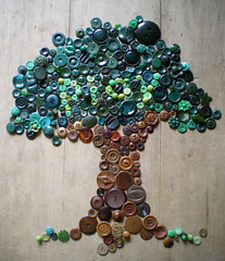 play (lilfishstudios) Tags: brown tree green art play mosaic buttons craft vintagebuttons buttontree