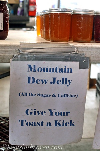 Unfortunately, they'd sold out of the Mountain Dew jelly.