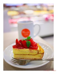 Annie's Coffee Time -  (Annie ( 00 )) Tags: red coffee cake fruit lumix cafe strawberry annie sweets custard tart naka  gf1    coffeewithlove annienaka