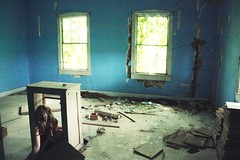 cari in the box (say.today) Tags: blue house abandoned girl room cari