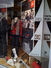 Window Displays with logos cut from X-Board Print