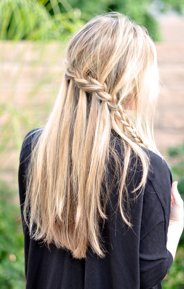 Fun Braids For Bad Hair Days: French Braid W/ Cascading Hair Tutorial // DIY Waterfall