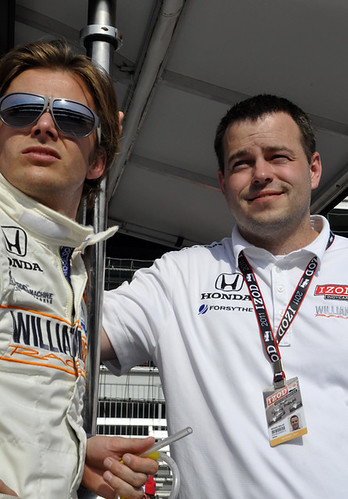 Todd Malloy con Dan Wheldon.