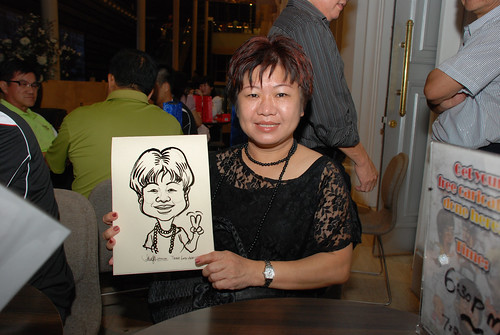Caricature live sketching for Tetra 60th Anniversary - 11