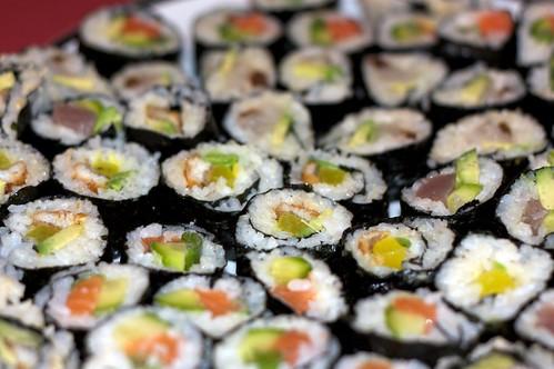 Home-made sushi