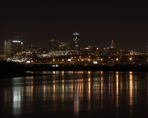 01-08-2009 Kansas City Skyline and reflection - Night shot