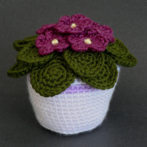 crocheted african violet