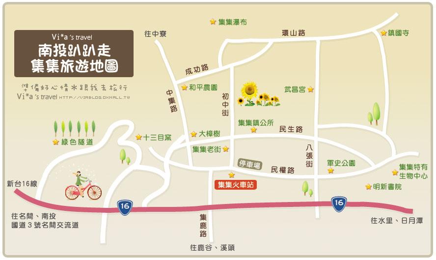 【車程】南投車程景點地圖                - 南投車程景點地圖