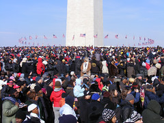 The crowd at the Washington Monument